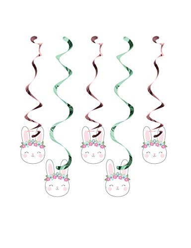Creative Converting Party Supplies, Bunny Party Dizzy Danglers, Danglers, Multicolor, Multi Size, 5Ct]()