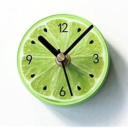 Besplore Magnetic Fridge/Kitchen Clock,Fruit Lemon Clock,Mini Silent,Green