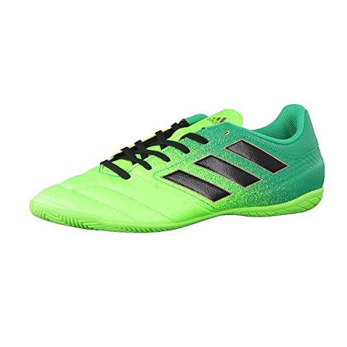 Adidas ACE 17.4 in, Scarpe per Allenamento Calcio Uomo, Verde (Versol/Negbas/Verbas), 41 1/3 EU