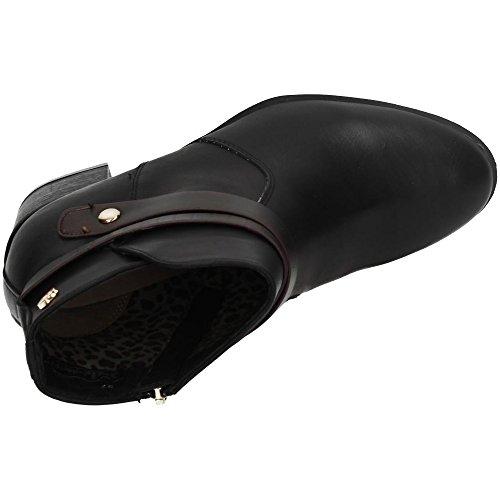 femme 36 Sra fermé EU Taupe à noir Chaussures avec C bout noir talon Botin XTI A4xOnqCw5v