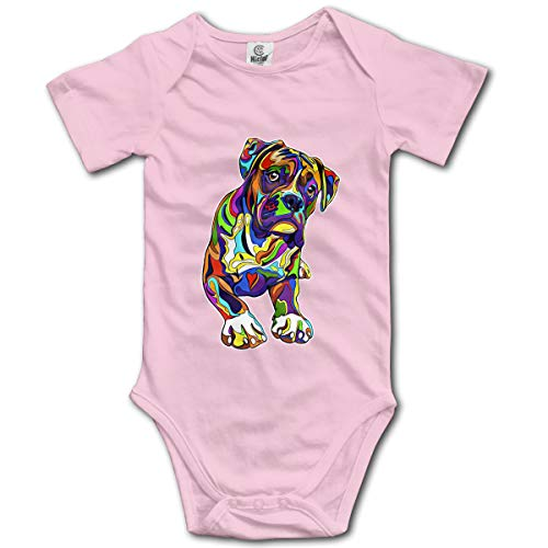 XHX Newborn Infant Boxer Dog Art Short Sleeve Romper for sale  Delivered anywhere in USA
