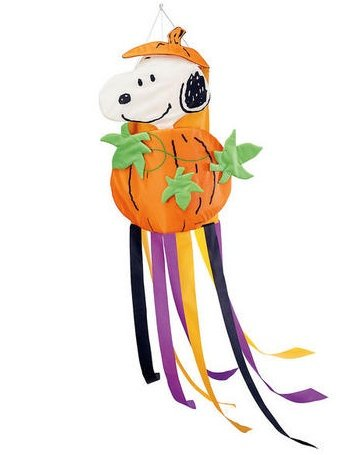 Peanuts Snoopy Halloween Pumpkin Fall Windsock