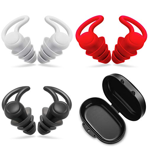 3 Sets Reusable Safe Silicone Anti-Noise Earplugs with Storage Boxes Noise Reduction Noise Cancelling Ear Plugs Hearing…