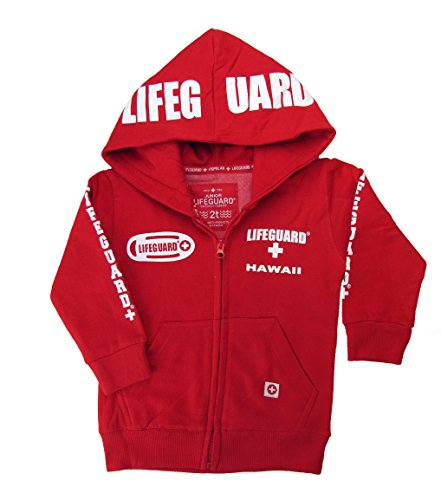 (Maui Clothing Officially Licensed Lifeguard Hawaii Toddler Zipper Hoodie)