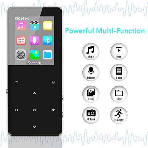 MP3 Player with Bluetooth 4.2, Fauna 32GB Portable Lossless Sound Metal Music Player with Internal Speaker, FM Radio Armband Pedometer Voice Recorder Touch Button, Support up to 128GB, Gift Packing by Lecoolife (Image #4)