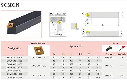 Torno de torneado indexable SCMCN2020K09 20mm