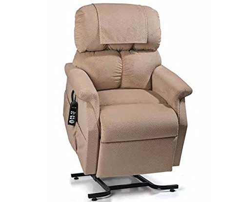 Golden Technologies MaxiComfort Dual Motor Comforter Lift Chair Infinite Position Recliner PR-505S Small MaxiComforter with Heat and Massage - Pearl Fabric - In-Home Delivery ()