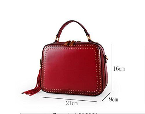 New Single Skew GWQGZ Fashion Minimalist Shoulder Handbag Spanning Bag Rivets 6Snqwad