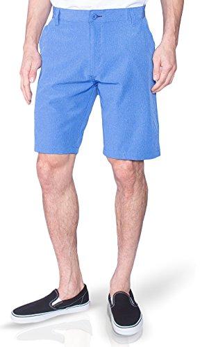 Microfiber Striped Shorts (Burnside Mens Dual Lightweight Hybrid Stretch Boardshort Short (40, Bright Blue))