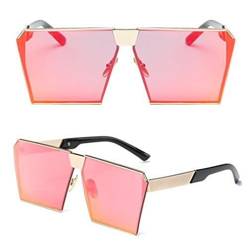 tamaño Sgy espejo estilo mujer para de sol JAGENIE R gran diseño retro Gafas de 7fqUcxP