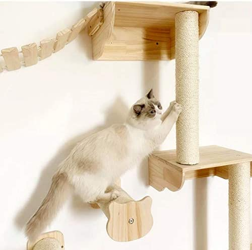 Wood Cat Steps Shelf Shelves Cat Perches Solid Wood Cat Stairs Walkway Kitty Cat Wall Steps Wall Mounted Stairway Cat Tree Cat Lover Gift