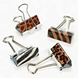 Animal Print Binder Clips - Housewares