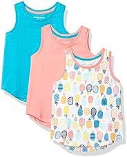 Amazon Essentials girls Amazon Essentials Girls' 3-Pack Tank Top Down