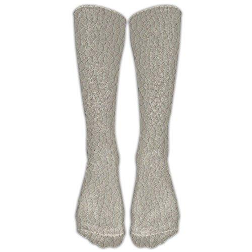 Unisex Unique Design Quality Leather Look Upholstery Socks 78% Cotton / 20% Nylon / 2% Spandex - Plush Leather Match Upholstery