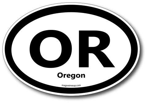 OR Oregon Car Magnet US State Oval Refrigerator Locker SUV Heavy Duty Waterproof…