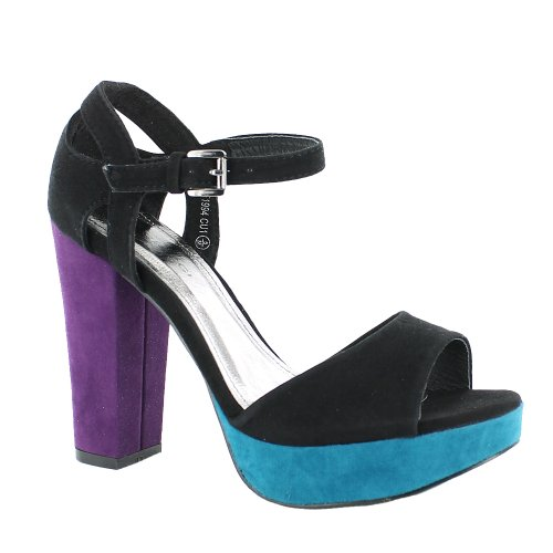 Footwear Sensation - punta abierta mujer azul - azul