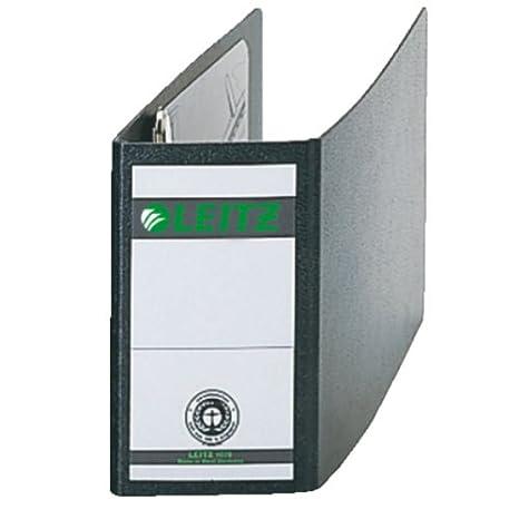 Leitz 10780000 - Archivador 180° A6 color negro: Amazon.es: Oficina y papelería