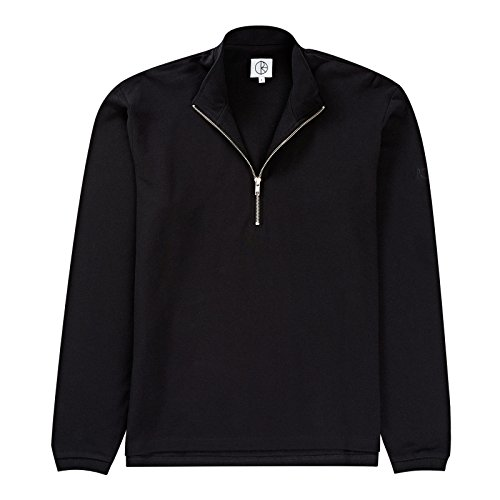 Polar Skate Co. Pique Zip Longsleeve Black