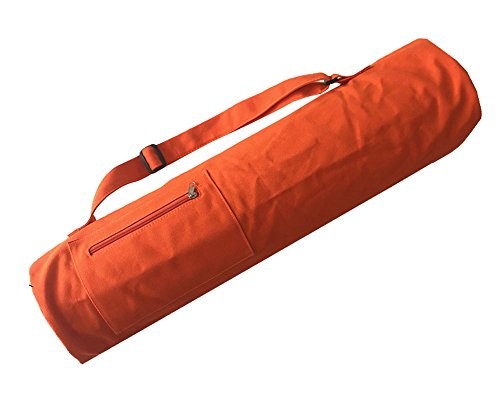 DRAGON SONIC Yoga Mat Bag, Full Zip Exercise Yoga Mat Sling Bag,Fits Most Size Mats-Orange by DRAGON SONIC