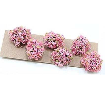 Melody Jane Casas de Muñecas Conjunto de 4 arbustos Arbustos Miniatura 1:12 Accesorio de jardín