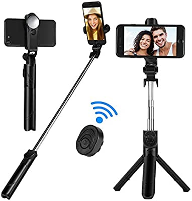 Selfie Stick Tripod Sefitopher 2 in 1 Extendable Selfie Stick Monopod with Bluetooth Wireless Remote /& Phone Holder Compatible with iPhone X//8//8 plus//7//7 plus//6s Galaxy S10//S9//8 Huawei and More