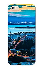 Quality Freshmilk Case Cover With Sunset Cityscapes Dawn Nice Appearance Compatible With Iphone 6 Plus()