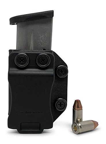 Concealment Express Single IWB/OWB KYDEX Magazine Holster/Mag Carrier: fits S&W M&P Shield 9/40 - Ambidextrous - Concealed Carry - Adj. Retention - US Made (Kydex 40 M&p Holster)