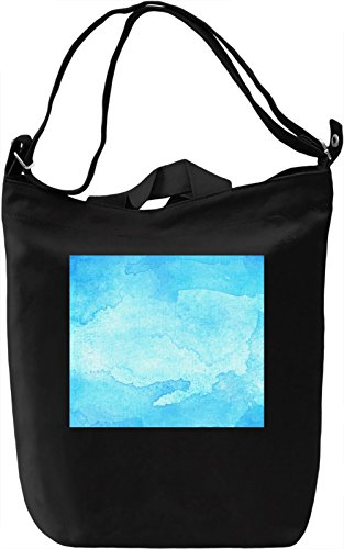 Blue Pattern Borsa Giornaliera Canvas Canvas Day Bag| 100% Premium Cotton Canvas| DTG Printing|