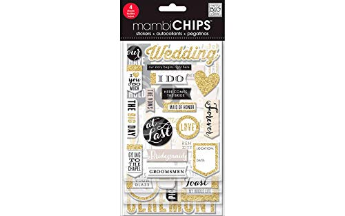Me & My Big Ideas Chipboard Value Pack-Our Wedding ()