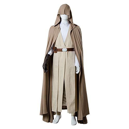 GOTEDDY Halloween Luke Cosplay Costume Tunic Hooded Robe Linen Outfit -