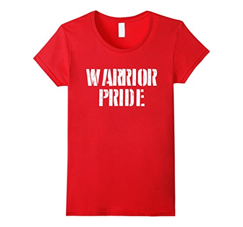 Womens Warrior Pride T Shirt for any Sports Fan School Spirit Shirt Small Red
