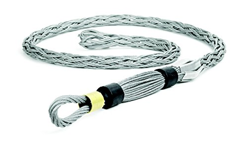 Woodhead 36615 Pulling Grip, High Strength, Flexible Eye, Aluminum Color, 66500lb Approximate Break Strength, .750'' Eye Cable Thickness, 89.00'' Mesh Length, 1.38–1.90'' Cable Diameter