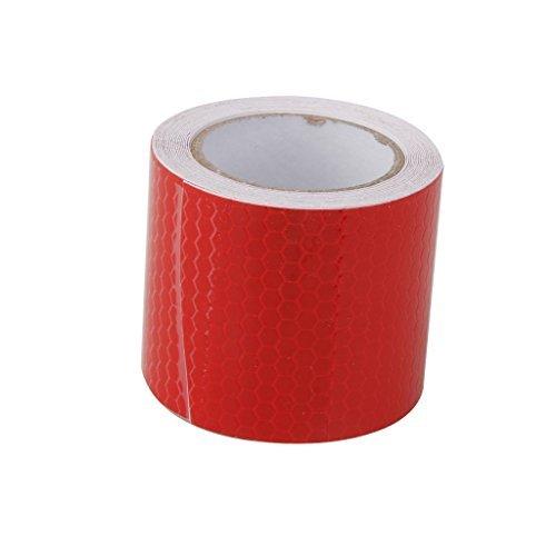 Haute Intensité Autocollant Ruban Réfléchissant Vinyle Auto-adhésif 5cm x 3m Rouge