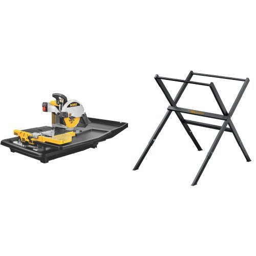 DEWALT D24000 1.5-Horsepower 10-Inch Wet Tile Saw  with tile saw stand