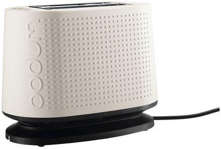 Bouilloire /électrique 1,0 L blanc Bodum 10709-913-3 Bistro Grille-Pain /Électrique Plastique Blanc 26,5 x 15,5 x 21,5 cm