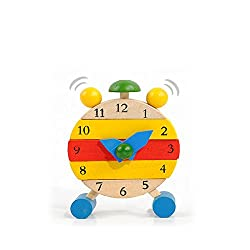 Toys & Gifts - Baby Wooden Learn Time Clock Educational Developmental Disassembly Toy - Educational Clocks Kids Wooden Clock Handmade Toys Learn Time Baby - For To - 1PCs