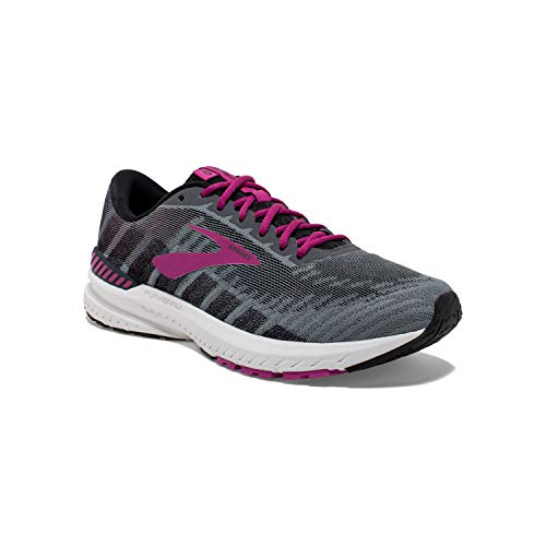 Brooks Womens Ravenna 10 Running Shoe - Ebony/Black/Wild Aster - D - 8.5