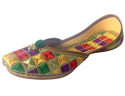 LADIES JOOTI FLAT KHUSSA ANARKALI MOJARI FLAT BALLET SALWAR KAMEEZ JUTI Multicoloured WpiawoFIh