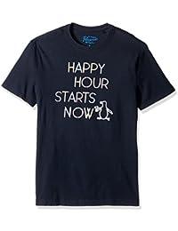 Original Penguin Men's Happy Hour Crew Neck Graphic Tee