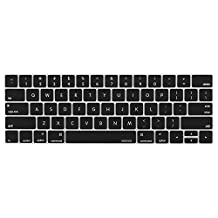 Mosiso Keyboard Cover for Touch Bar Models Newest Version MacBook Pro 13 (A1706) & MacBook Pro 15 (A1707)(2017 & 2016) with Touch ID, Black