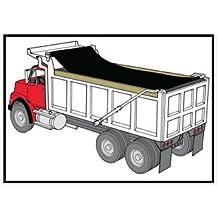 EasyCover Black Dump Truck/Trailer Mesh Flip Tarps (7' W x 16' L)
