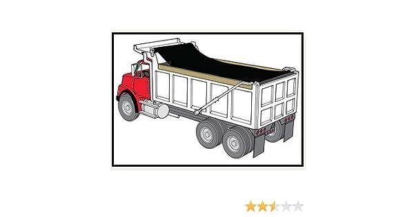 7/' x 12/' Dump Truck Flip Tarp *Various sizes available* Black Mesh Tarp