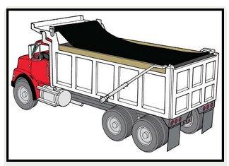 dump trailer mesh tarp - 3