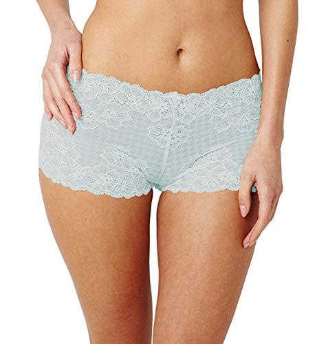 Panache Lingerie Women's Envy Floral Lace Houndstooth Boyshort Panties #7287 - Mint 20/XXXL ()