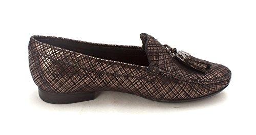 Vrouwen Echt Leer Gemaakt In Brazilië Wall Street Kwast Loafer Marc Joseph Ny Fashion Schoenen Zwart Metallic Gekrabbel