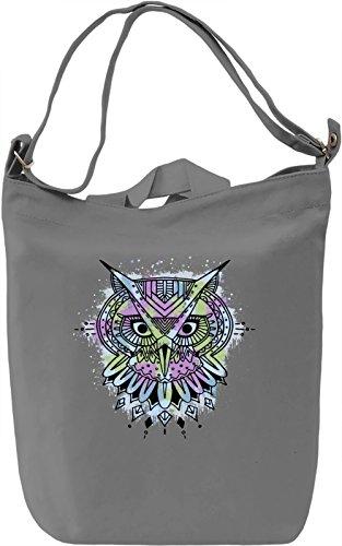 Ethnic Owl Borsa Giornaliera Canvas Canvas Day Bag| 100% Premium Cotton Canvas| DTG Printing|