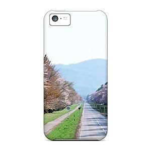 FDmeLCS6614igiQF Mwaerke Sakura Path Durable Iphone 5c Tpu Flexible Soft Case