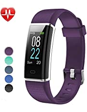 Willful Fitness Armband Herzfrequenz Smart Armband Uhr IP68 Wasserdicht Sport Fitness Tracker Pulsmesser mit Schrittzähler,Kalorienzähler,Whatsapp SMS Beachten Vibrationsalarm Multi-Sport-Tracker