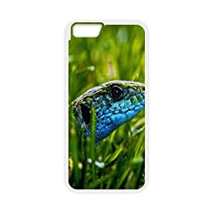 IPhone 6 Plus Case Green Blue Lizard for Teen Girls Protective, Luxury Case Iphone 6 Plus Case Tyquin, [White]