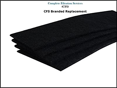 Carbon Activated Pre-Filter 4-pack for use with the germguardian FLT5000/FLT5111 HEPA Filter for AC5000 Series, Filter C by Complete Filtration Services (CFS)